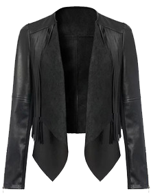 OE_Black_PU_Leather_Tassel_Crop_Jacket