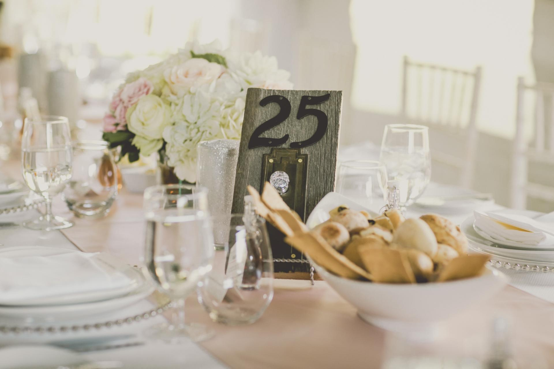 Farm Barn Wedding Table Numbers Decor