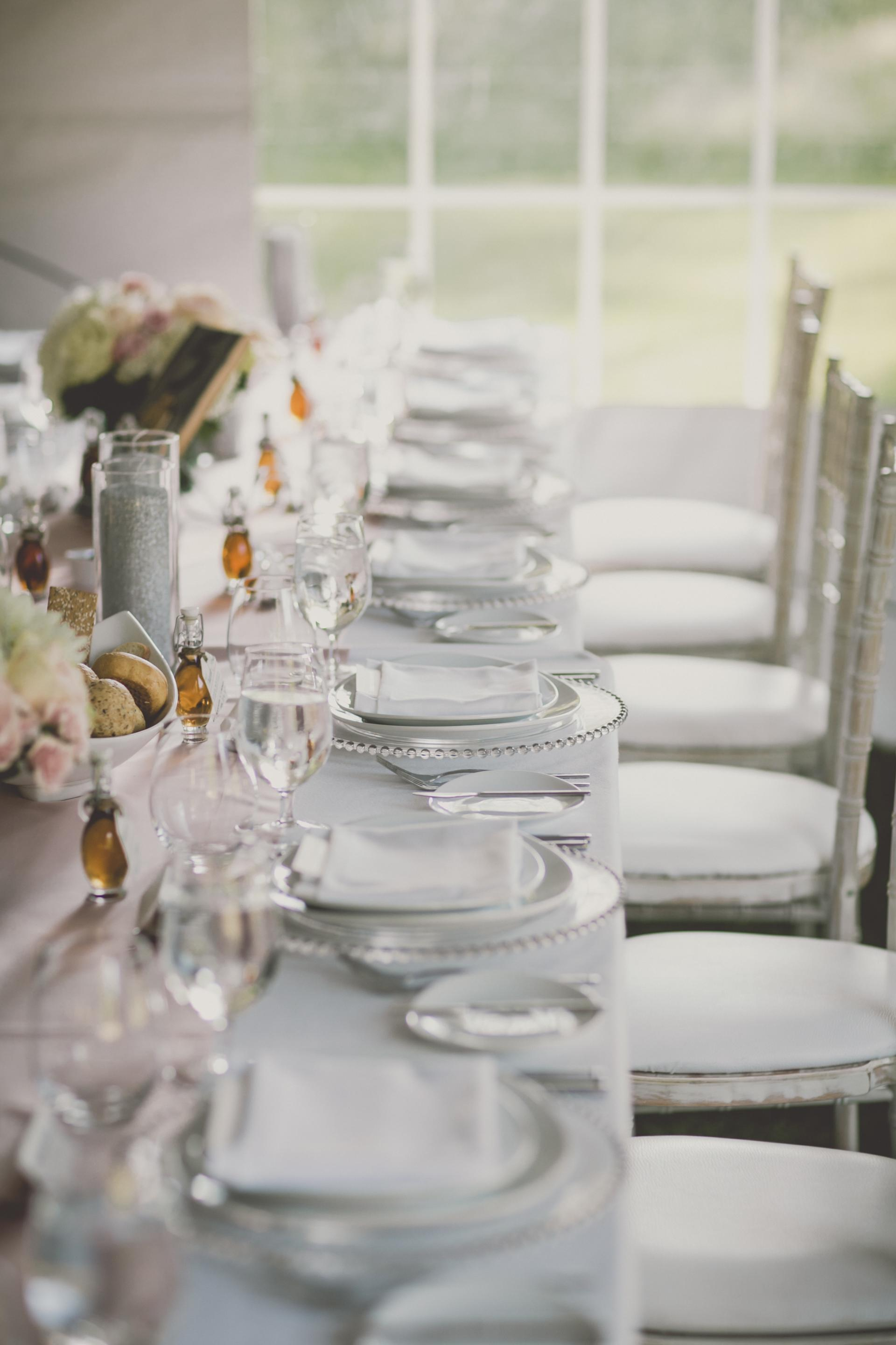Farm Barn Wedding Table Decor