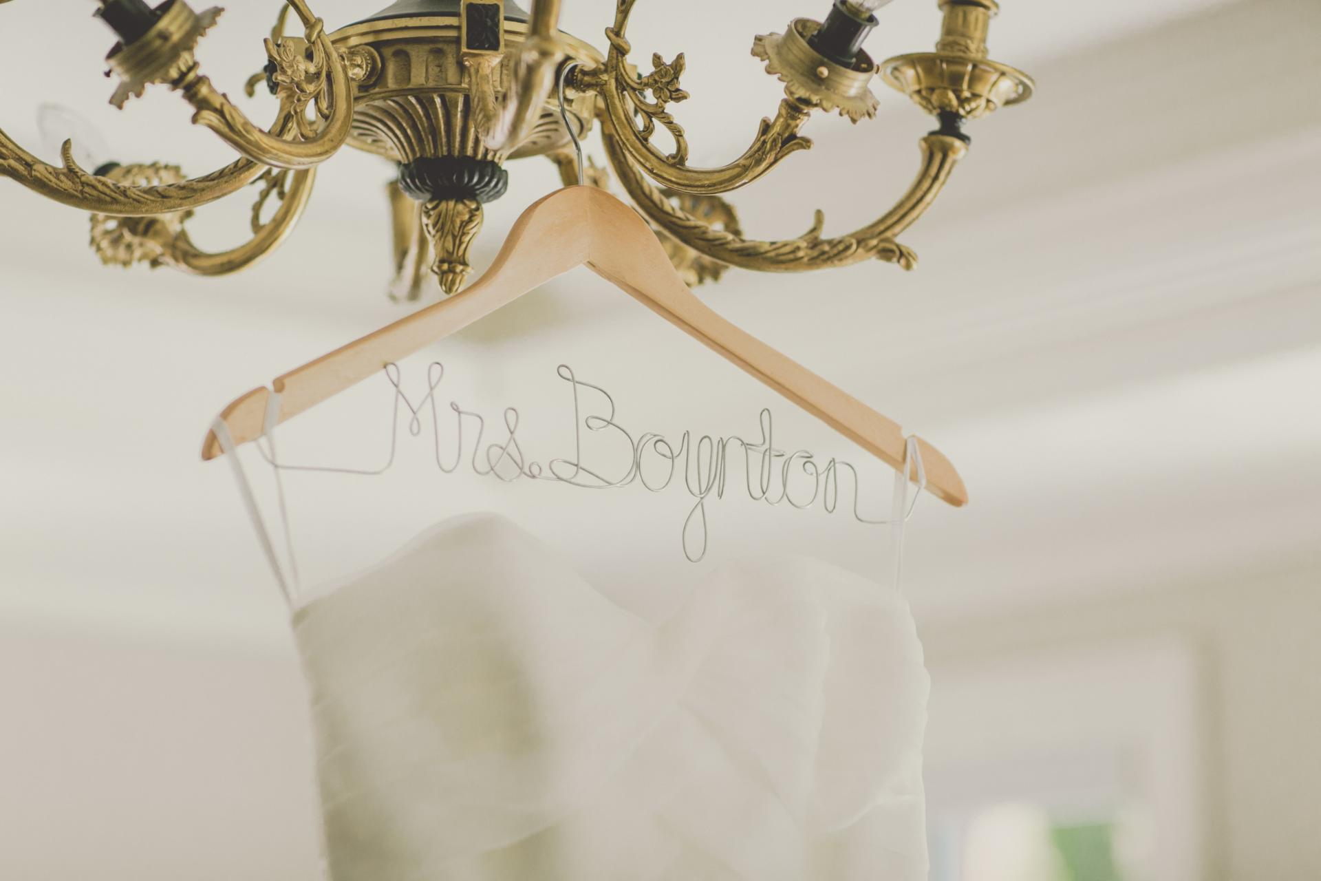 Wedding Dress Hanger Shot