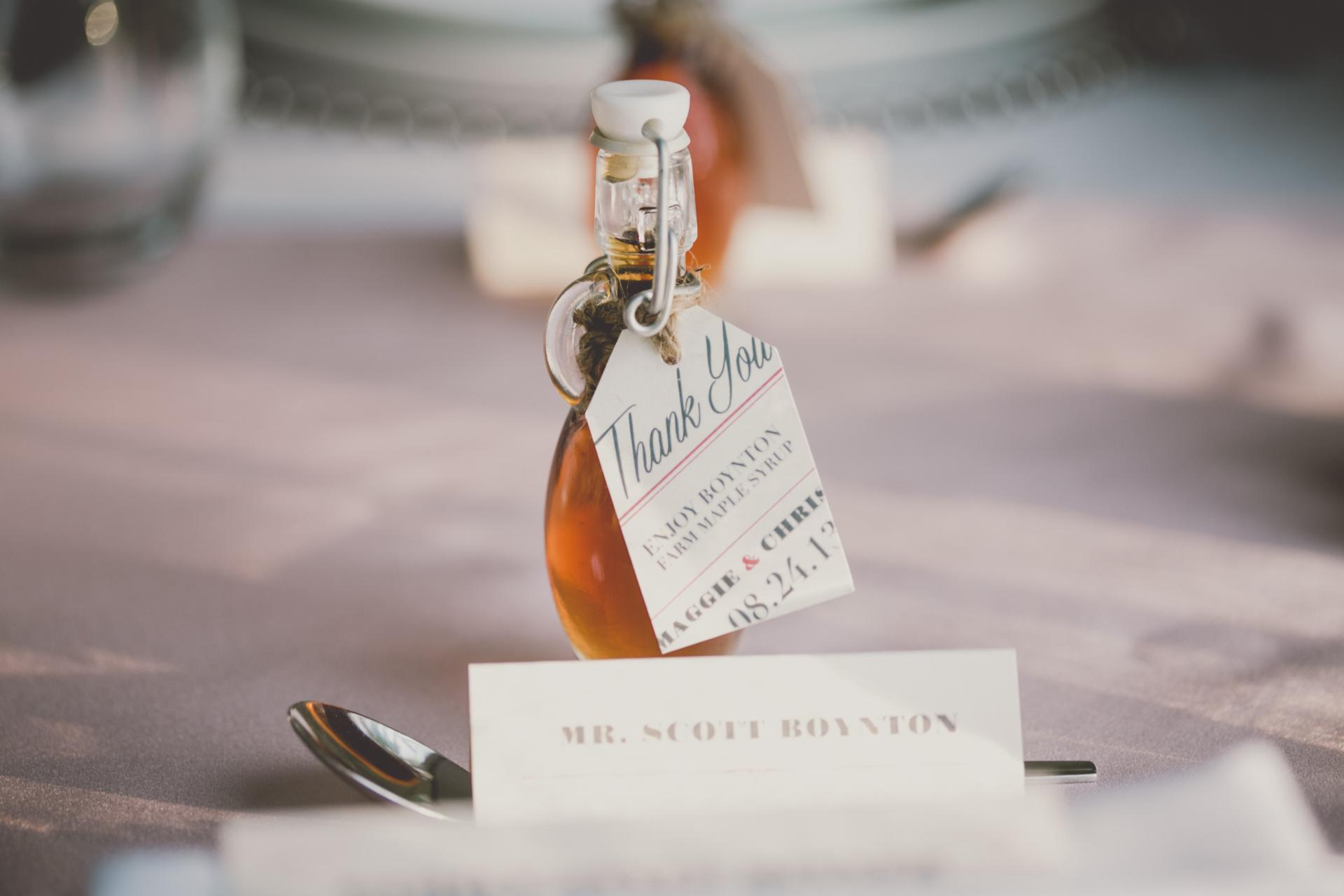 Farm Barn Wedding Maple Syrup Gift