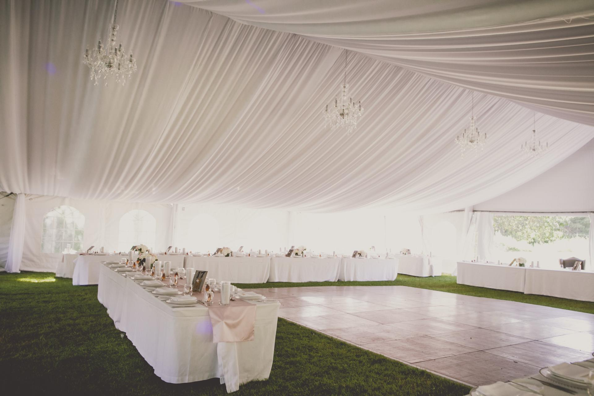Farm Barn Wedding Tent Draping Decor