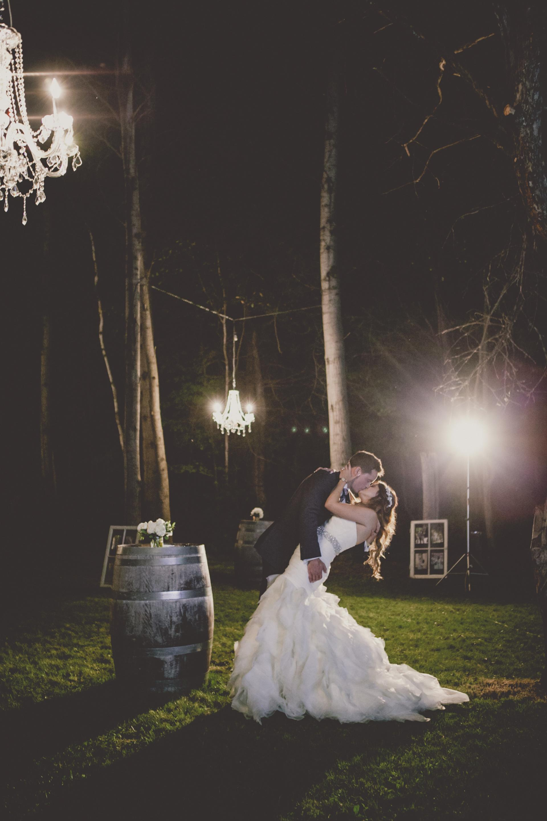 Farm Barn Wedding Barrel Woods Chandelier
