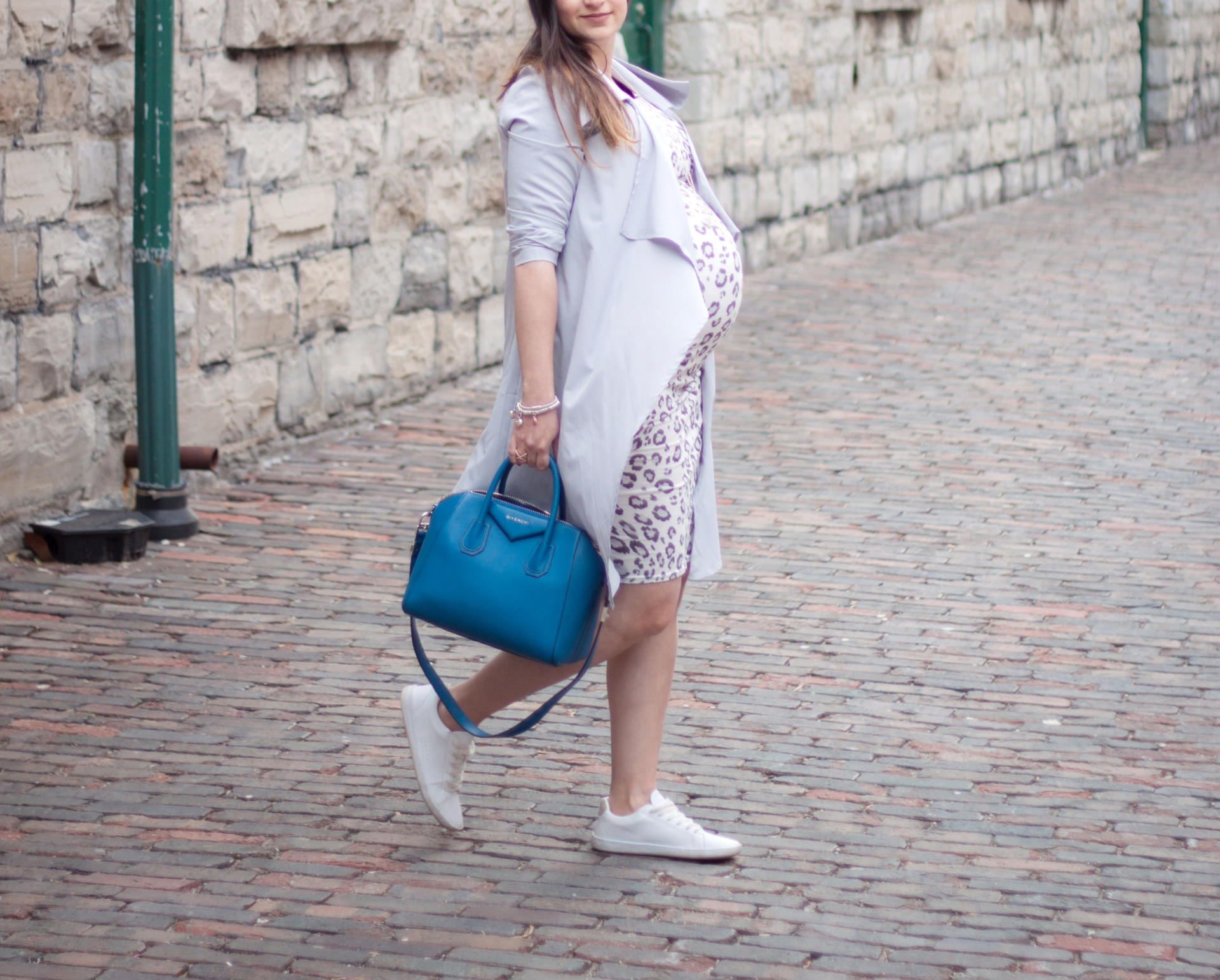 How to rock a dress with sneakers