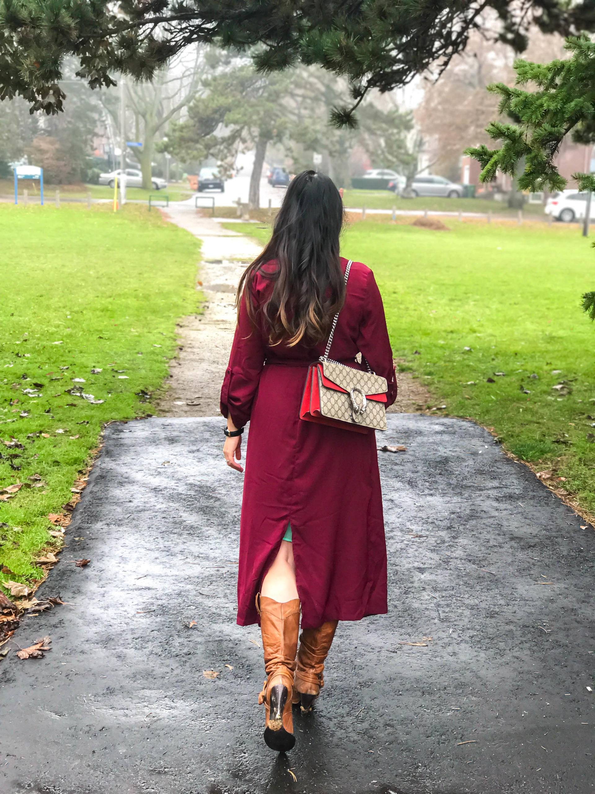 Black Friday Sale at PinkBlush | Bordeaux Trench | Gucci Bag